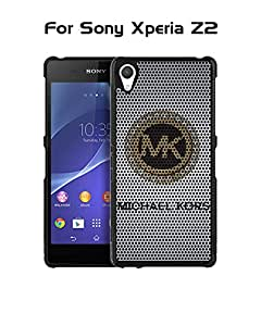 Sony Xperia Z2 Funda Case Brand Logo MK-- Michael Kors Tough Protection Unique Anti Slip Dust Proof Funda Case Cover (Only For Sony Z2)