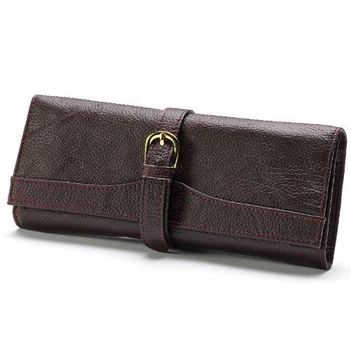 UPC 791336053050, AmeriLeather Leather Jewelry Roll - Burgundy