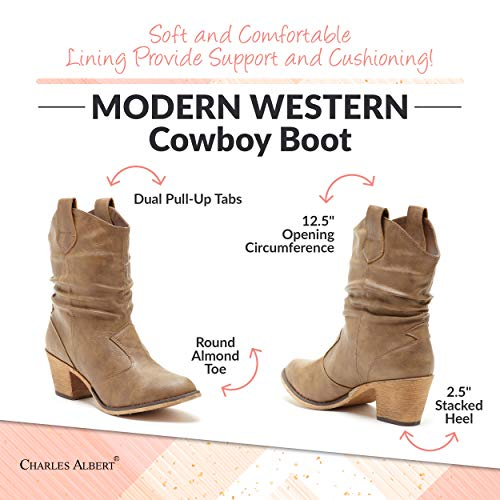 Charles Albert Pull On Cowboy Inspired Western Boots