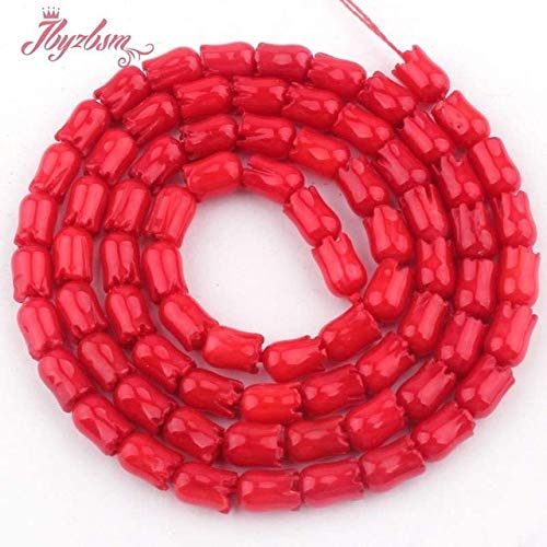 Calvas 3x5mm Carve Flower Coral Beads Natural Stone Beads for DIY Necklace Bracelets Eaaring Pandant Jewelry Making 15