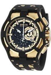 Invicta Men's 0639 Akula II Reserve Chronograph Black Dial Black Polyurethane Watch