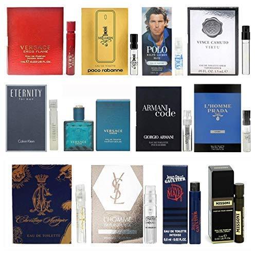 12 Mens Cologne Samples Vials & Miniature Set Tom Ford, Yves Saint Laurent