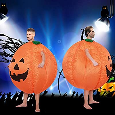 julyso Trajes Halloween Hombre Inflable Adulto Halloween Calabaza ...
