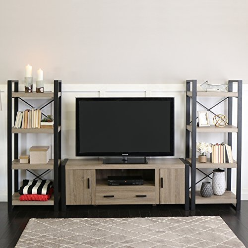 60 Inch Urban Blend Ash Grey TV Stand With Side