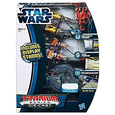 Hasbro Star Wars Titanium Series 2012 Episode I Exclusive Diecast Vehicle Set: Toys & Games