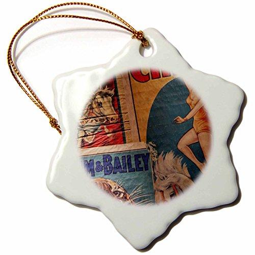 3dRose Florida, Sarasota, Ringling Museum, Circus Museum - Us10 Wbi0587 - Walter Bibikow - Snowflake Ornament, Porcelain, 3-Inch (ORN_89299_1)