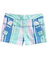 Tommy Hilfiger Girls' Plaid Shorts-plc Blue - Size 8