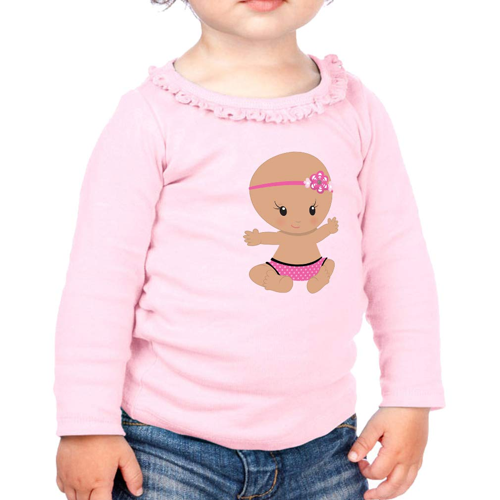 Baby Girl Bow Flower S Cotton Girl Toddler Long Sleeve Ruffle Shirt Top