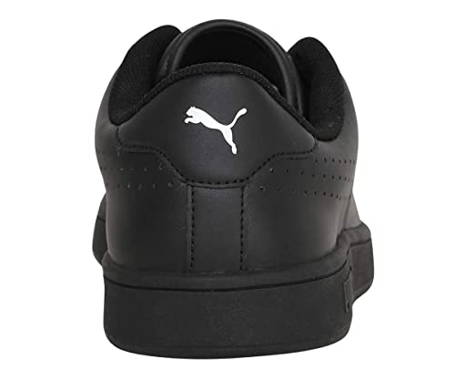 Smash V2 L Perf Black Leather Sneakers