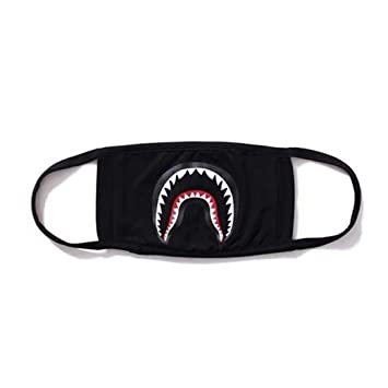 6e7ca30f Ouneed Face Mask Camouflage Hot Bathing Ape Bape Shark Black Face Mask  Mouth-muffle BAPE Cover (B): Amazon.co.uk: Kitchen & Home