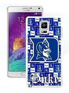 Personalized Design NCAA Atlantic Coast Conference ACC Footballl Duke Blue Devils 6 White Customized Samsung Galaxy Note 4 Phone Case