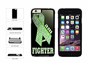 Ovarian Cancer Green Ribbon I Am A Fighter Plastic Phone Case Back Cover Apple iPhone 6 (4.7 Inches)