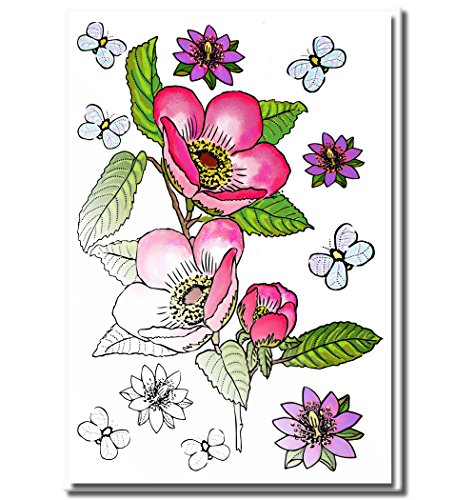 Adult Coloring Greeting Cards for Birthday, Anniversary and Every Occasions | Set of 10 Cards to Color and Send | Envelopes Included | Art Eclect Set B/White