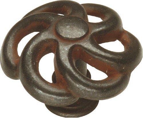 Hickory Hardware PA1311-RI 1-1/4-Inch Charleston Blacksmith Knob, Rustic (Charleston Blacksmith Cabinet)
