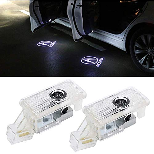 CHUNLING Compatible Acura Car Door Led Logo Lights Projector,3D Shadow Ghost Light Welcome Emblem Lamp For Acura RLX/ZDX/TLX/TL Accessories 2 Pack