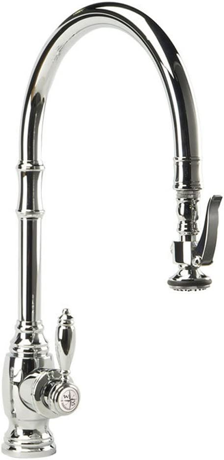 Waterstone 5500-CHAnnapolis Kitchen Faucet Single Handle with Pull Out Spray, Chrome