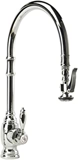 product image for Waterstone 5500-PN Annapolis Kitchen Faucet Single Handle with Pull Out Spray, Polished Nickel