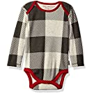 Burt's Bees Baby Organic Long Sleeve Lap Shoulder Bodysuit, Multi, 0-3 Months