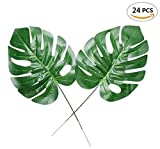Fake Faux Artificial Tropical Palm Leaves for Home Kitchen Party Decorations or Handcrafts 24 Counts