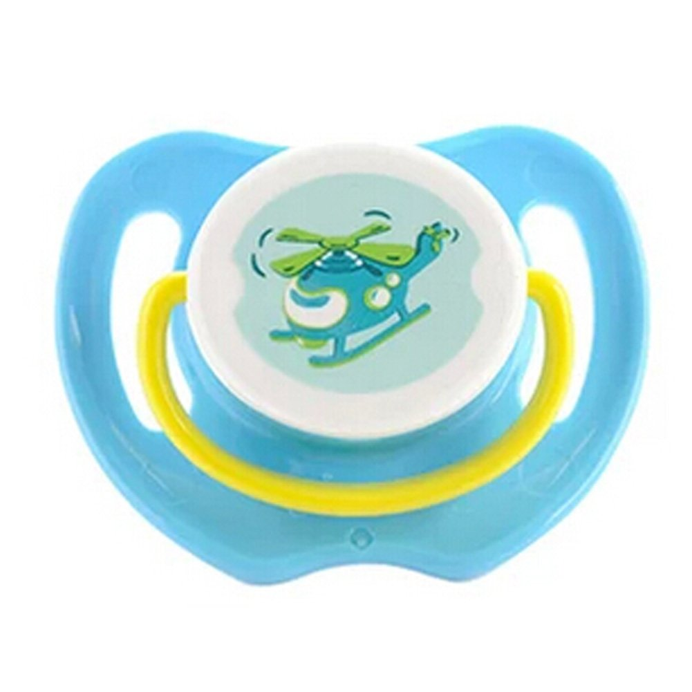 Cartoon Belle de nuit gratuit Infant Pacifier, Hé licoptè re, Bleu Hélicoptère Blancho Bedding