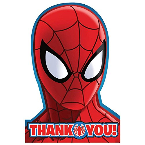 Spiderman Postcard Thank You Cards (8 Pack) - Party Supplies