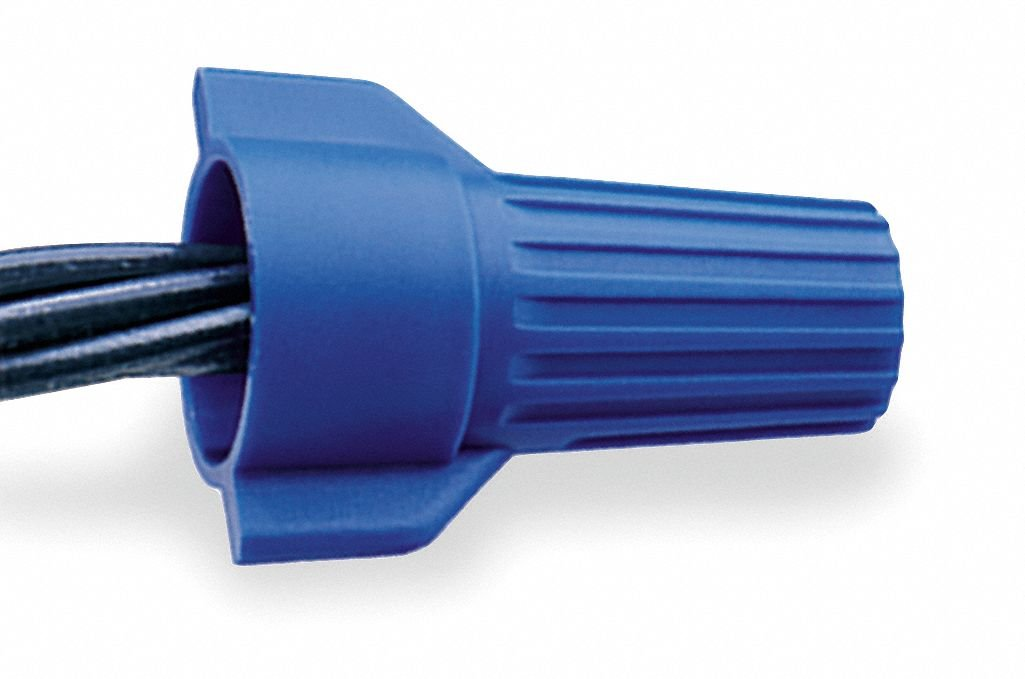 Twist On Wire Connector, Blue, WT54 Series, Max. Wire Combination: (2) 6 AWG