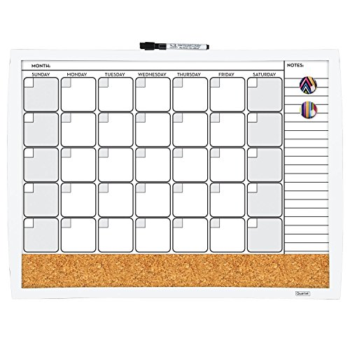 Magnetic Combination Calendar Dry Erase 38097 WT