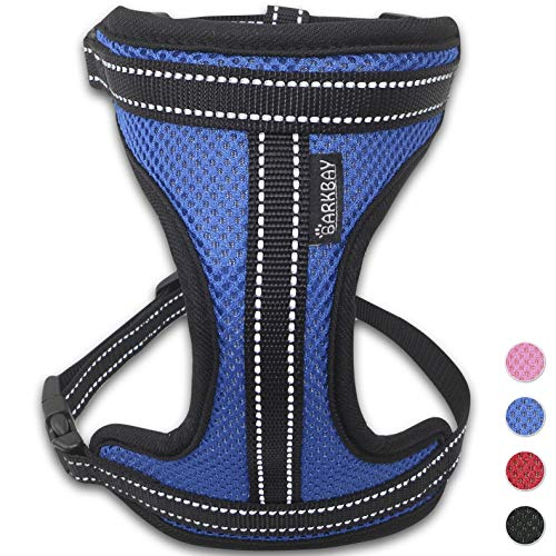 BARKBAY No Pull No Choke Dog Harness with Luxurious Padded Air Mesh ReflectiveVest for Small Medium Large Puppies Air Mesh Dog Harness
