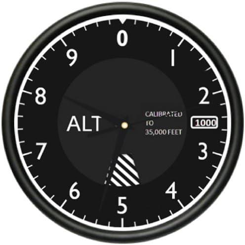 Altimeter Wall Clock Tracking Pilot air Plane Altitude Measurement Gag Gift
