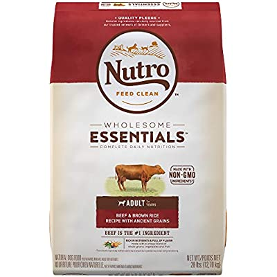 Nutro Wholesome Essentials Adult Dry Dog Food Beef & Brown Rice Recipe with Ancient Grains, 14 Lb. Bag