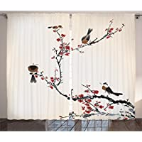 Ambesonne Japanese Curtain House Decor by, Stylized...