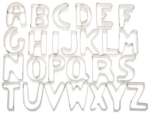 Ateco Alphabet Stainless Steel Cookie Cutter Set by Ateco by Ateco (Image #1)