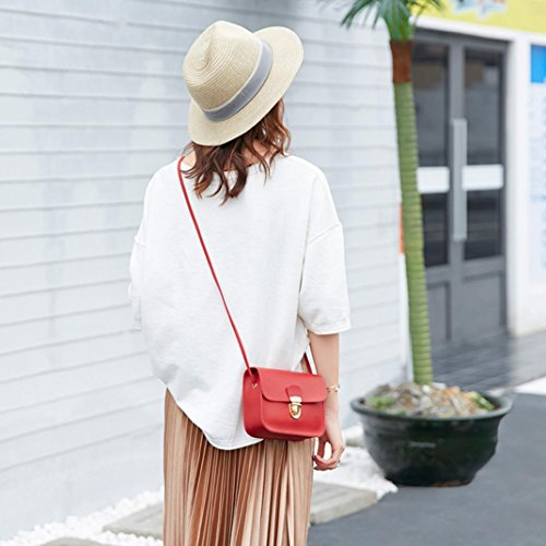 Lock Bag Color and Long Solid Wristlet Bag Clutch Bags with Bag Red Shoulder Phone Cover Spritumn Women Strap Crossbody Fashion Adjustable Small 7qwxU6BU