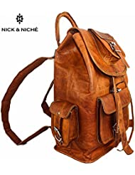 NICK & NICHE Black Friday Sale Bag Handmade Vintage Style Genuine Leather Travel Bag backpack Cabin Bag 16 inches