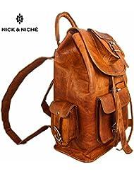 NICK & NICHE Black Friday Sale Bag Handmade Vintage Style Genuine Leather Travel Bag backpack Cabin Bag 16 inches