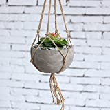 MyGift Industrial Urban Clay Hanging Planter Pot with Knotted Rope Hanger Review