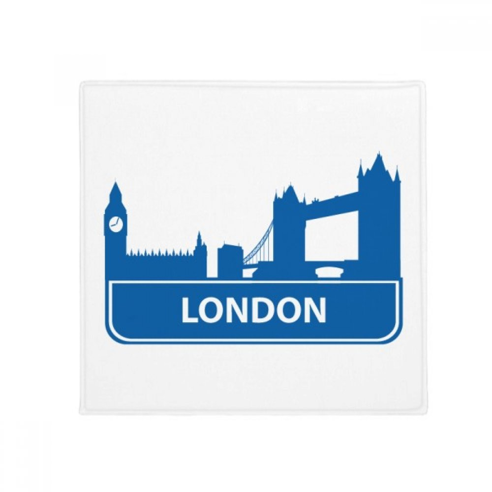 DIYthinker London England bluee Landmark Pattern Anti-Slip Floor Pet Mat Square Home Kitchen Door 80Cm Gift