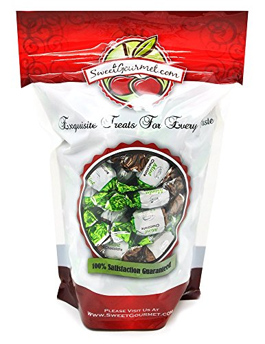 SweetGourmet Arcor Chocolate Filled Mint, 2 LB (Chocolate Filled Mints)