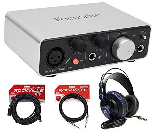 Yamaha PSR-S970 61 Key Digital Keyboard+Vocal Microphone+Stand+Bench+Headphones by Focusrite