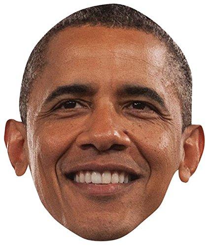 [Barack Obama Celebrity Mask, Cardboard Face and Fancy Dress Mask] (Barack Obama Face Mask)