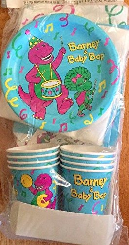 Barney Baby Bop Party Pack Plates Napkins Plates Birthday Supplies Tablecloth x8