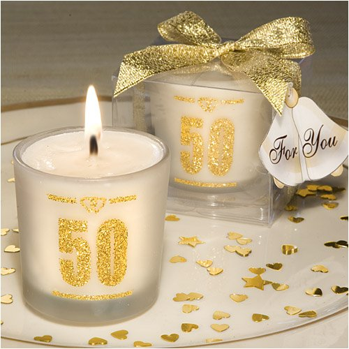 50th Anniversary candle favors ()