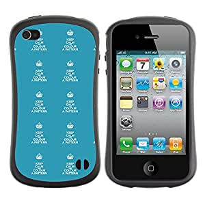 ArtSpace Premium Hybrid Back Case Cover Apple iPhone 4 / 4S ( Keep Calm Typo )