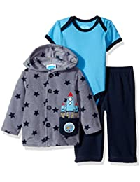 Baby Boys'' 3 Piece Microfleece Jacket Set With Bodysuit and Pant