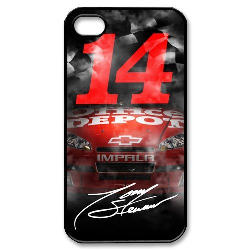 [NASCAR Tony Stewart No.14 Stewart-Haas Racing Slim Hard One Piece Best Durable Apple iPhone 4/4s Case] (Nascar Tony Stewart Costumes)