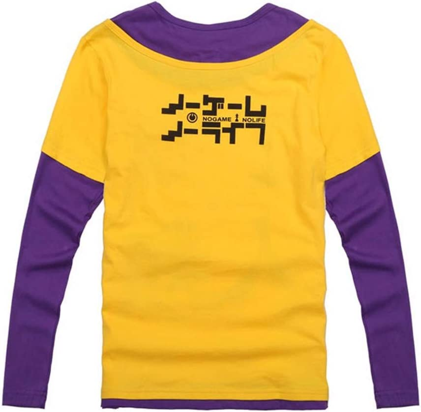 FINDPITAYA D/éguisement No Game No Life Sora Adulte Cosplay T Shirt Manches Longues S