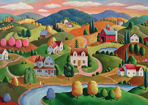 Ravensburger Rolling Hills Large Format 300 Piece Jigsaw Puzzle Adults – Every Piece is Unique, Softclick Technology Means Pieces Fit Together Perfectly