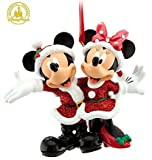 Disney Holiday Santa Mickey & Minnie Mouse Ornament - Disney Theme Parks Exclusive & Limited Availability