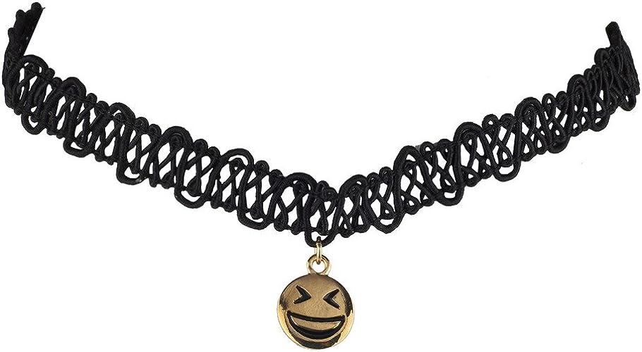 NEWLY Women/'s Black Lace Choker Collar Necklace Gothic Punk Jewelry Gift Fashion