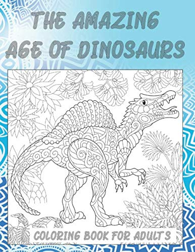 Amazon.com: Dinosaur Coloring book for Adults and Kids: Coloring ... | 500x386